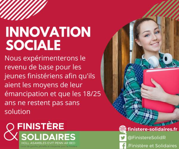 #7 - Innovation sociale -Revenu de base jeunes
